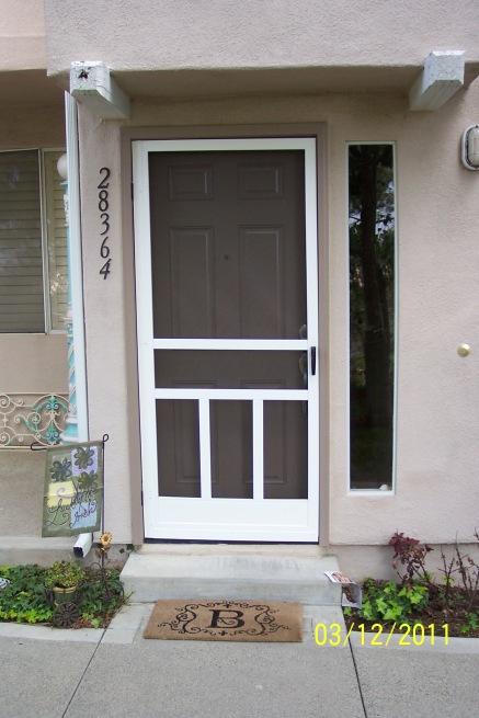 White Screen Door 1